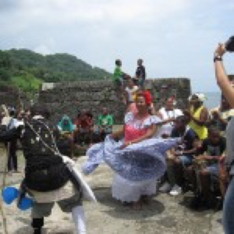Congo Couple Dancing at Local Event (Photo by Oronike Odeleye)