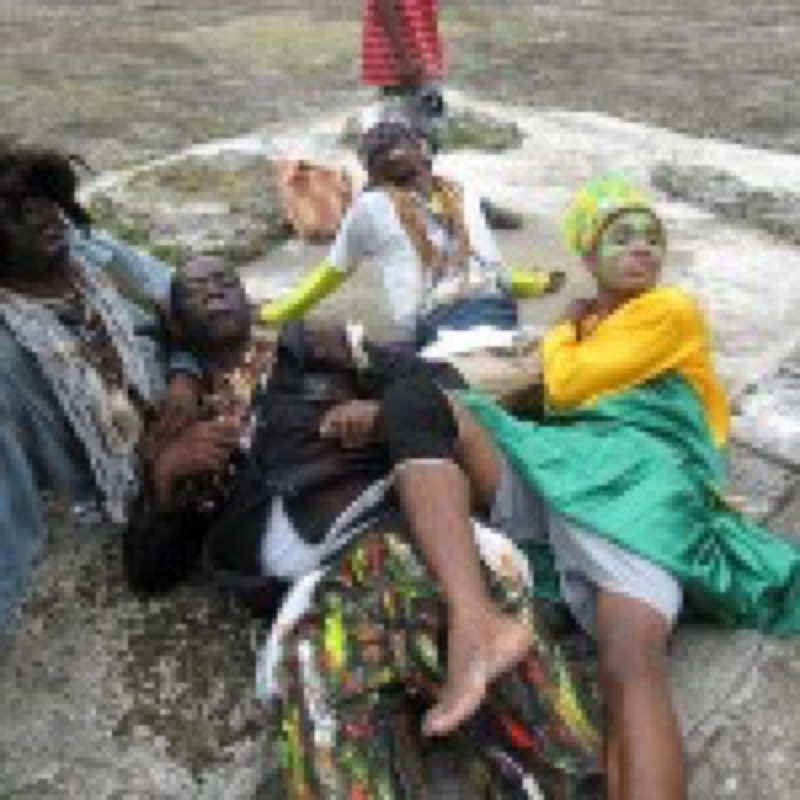 Congos Posing For Pictures After Tourist Presentation (Photo by Oronike Odeleye)